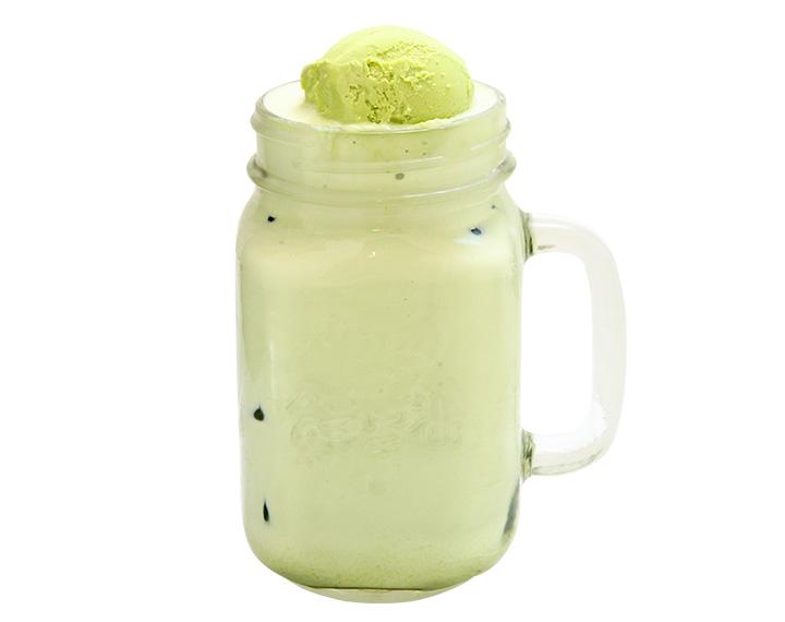 抹茶冰淇淋鲜奶
