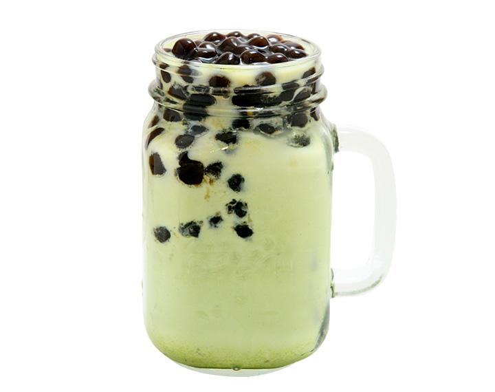 抹茶珍珠鲜奶