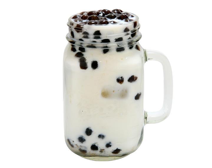 杏仁珍珠鲜奶