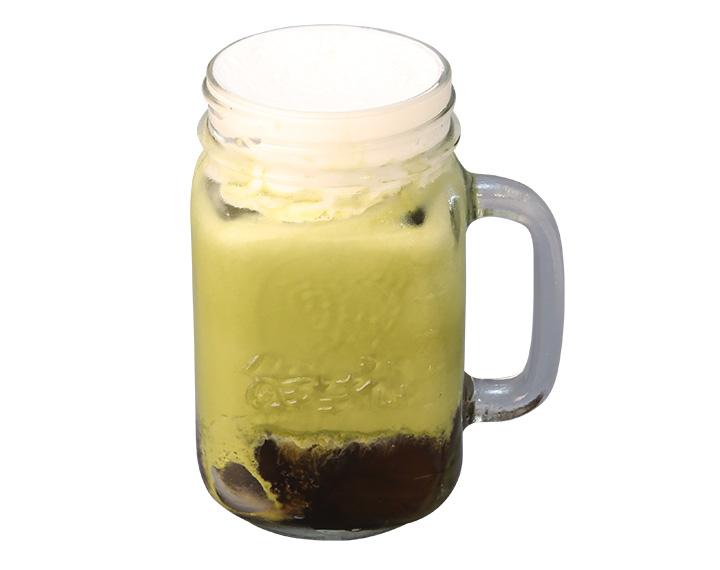 仙草抹茶鮮奶霜