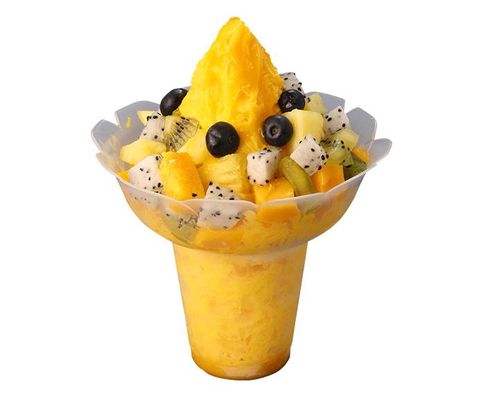 热带水果绵绵冰